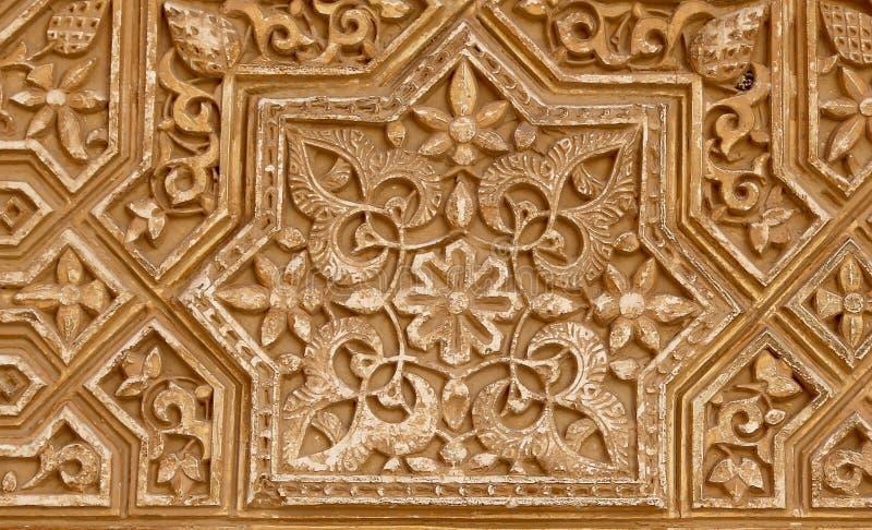 Detalhe de tilework (mouro) islâmico no Alhambra, Granada, Espanha foto de stock