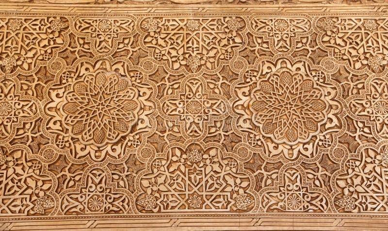 Detalhe de tilework (mouro) islâmico no Alhambra, Granada, Espanha imagens de stock