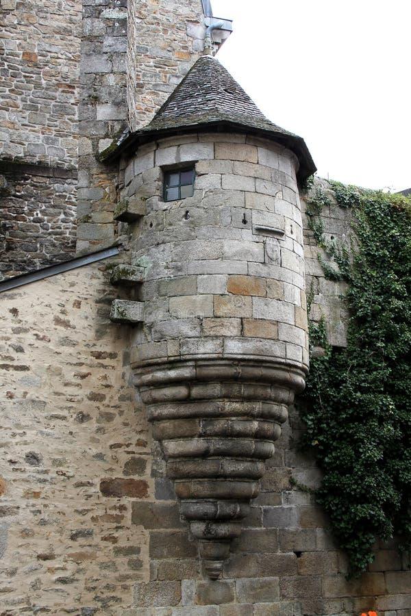 Detalhe de torreta de pedra antiga imagem de stock royalty free