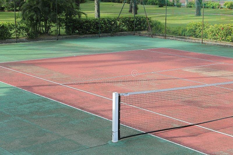 Detalhe de um campo de tênis fotos de stock royalty free