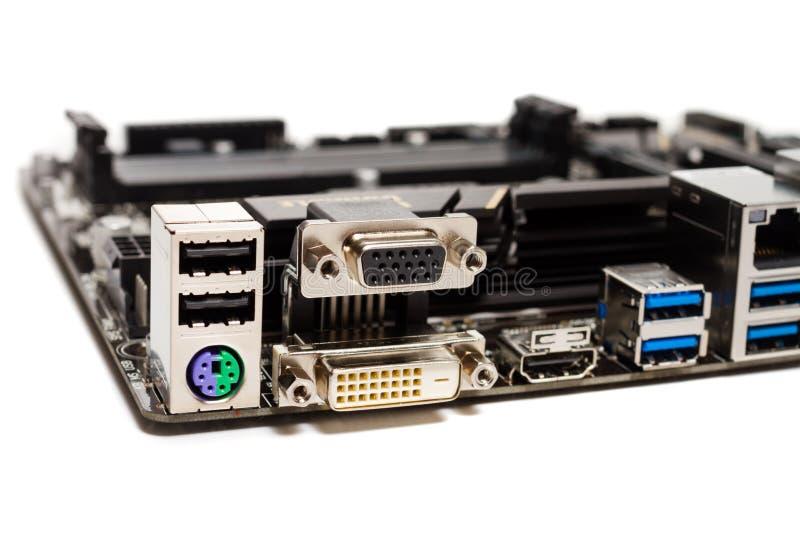 Detalhe de um cartão-matriz do computador do PC imagens de stock royalty free