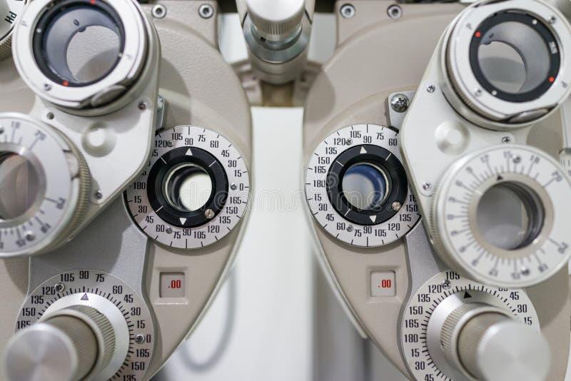 Diopter do optometrista fotos de stock