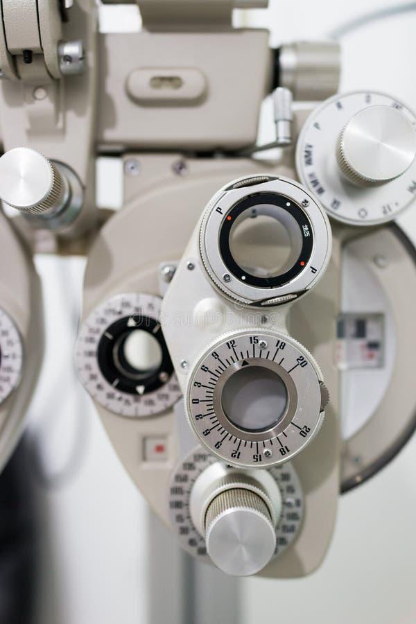 Diopter do optometrista fotografia de stock