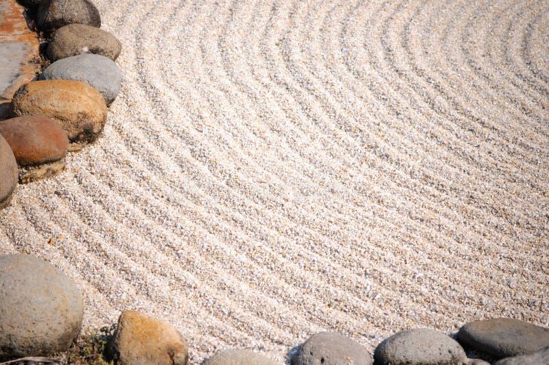 Detalhe de um jardim do zen imagem de stock royalty free