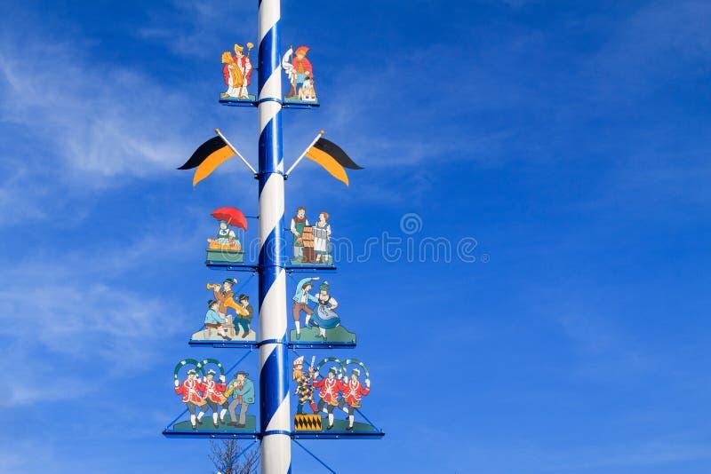 Detalhe de um Maypole em Munich imagem de stock royalty free