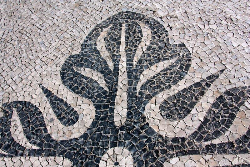 Detalhe de um pavimento português fotos de stock royalty free