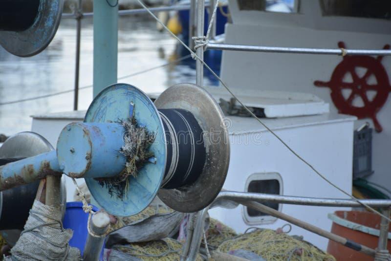 Detalhe de um peixe-barco grego típico fotografia de stock royalty free