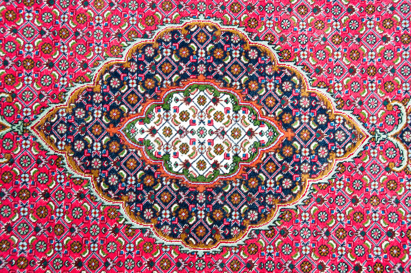 Detalhe de um tapete persa imagens de stock royalty free
