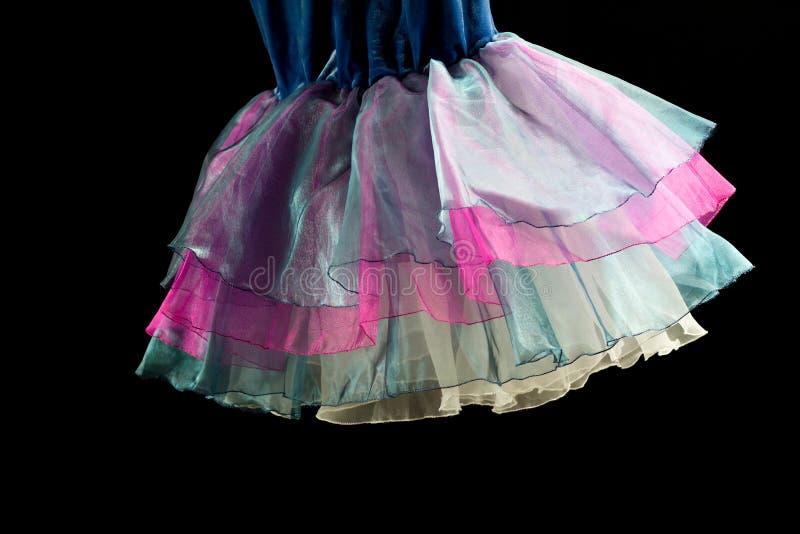 Detalhe de um traje do dançarino de bailado fotos de stock