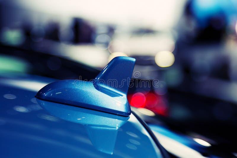 Detalhe de uma antena moderna do carro fotos de stock