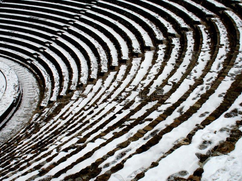 Detalhe de uma arena romana em Lyon fotos de stock