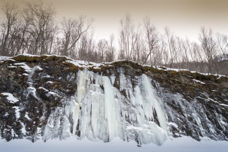 Detalhe de uma cachoeira congelada fotos de stock royalty free