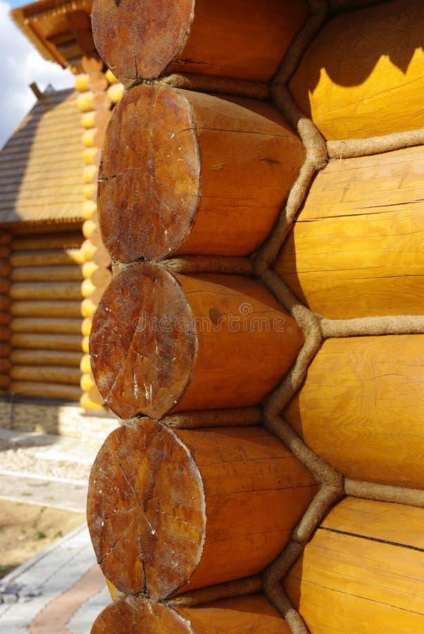 Detalhe de uma casa de madeira foto de stock