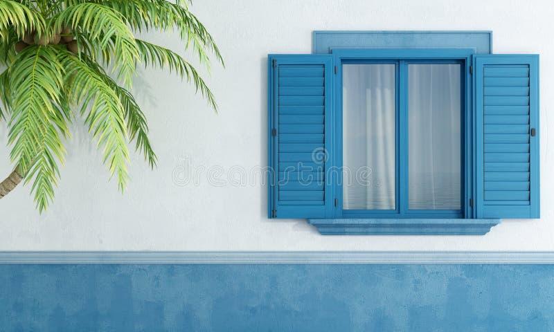 Detalhe de uma casa mediterrânea ilustração royalty free