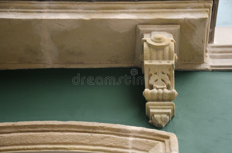 Detalhe de uma fachada fotografia de stock royalty free