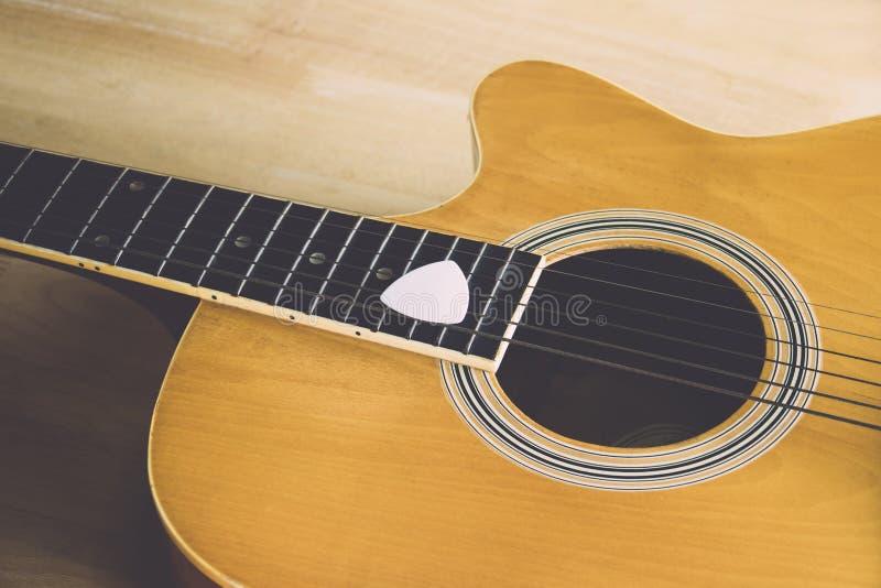 Detalhe de uma guitarra clássica imagem de stock