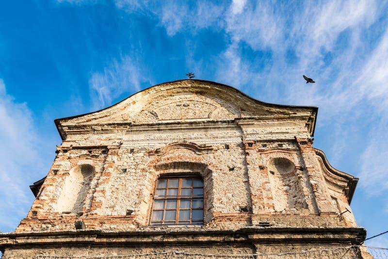 Detalhe de uma igreja italiana barroco antiga imagens de stock