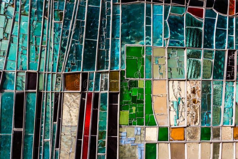 Janela de vidro colorida foto de stock royalty free