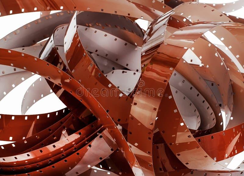 Detalhe de uma pilha do filme de 16mm fotografia de stock royalty free