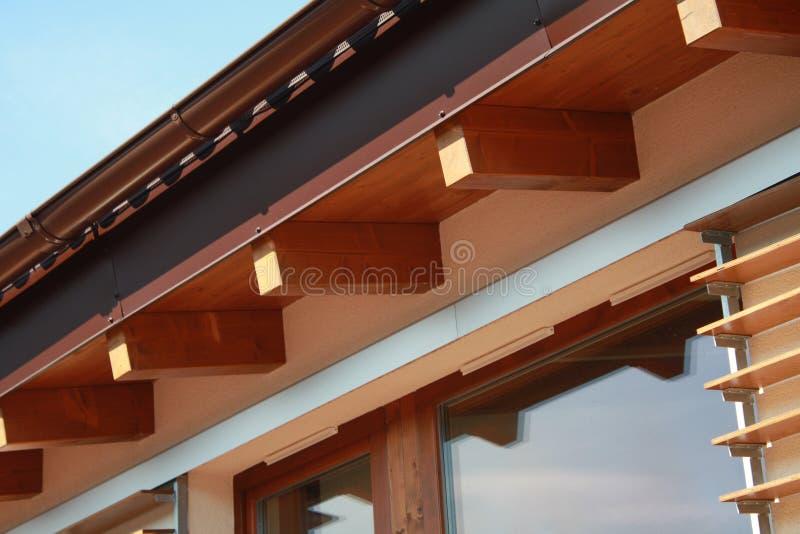 Detalhe de ventilação na casa passiva imagens de stock