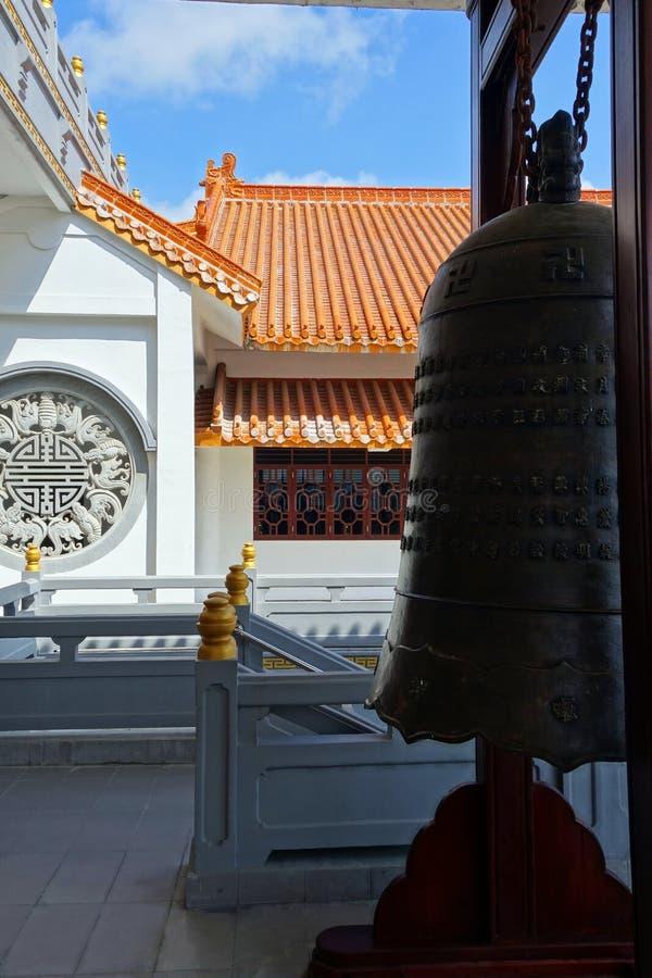 Detalhe de Vihara Avalokitesvara, um templo budista imagens de stock