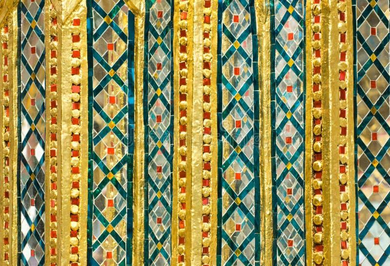 Detalhe de Wat Pra Kaeo em Banguecoque fotografia de stock royalty free
