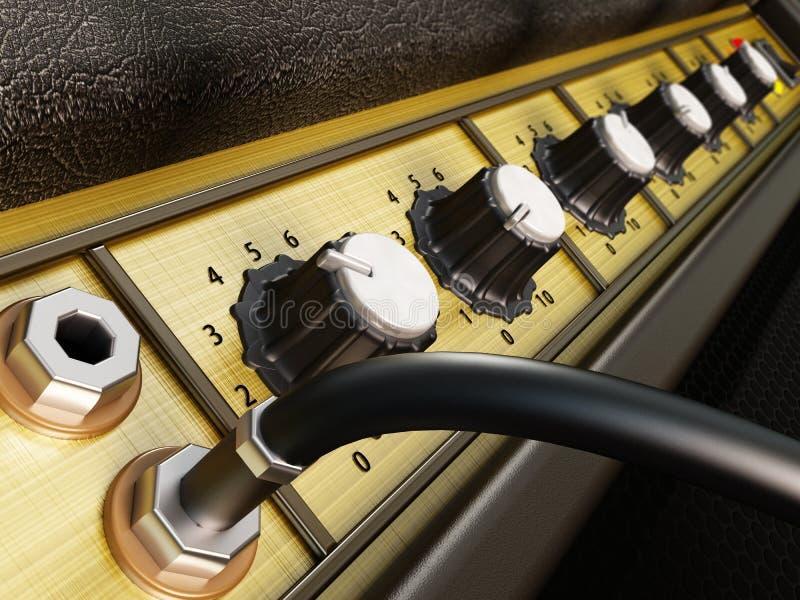 Detalhe do amplificador ilustração stock