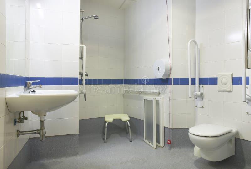 Detalhe do banheiro para povos deficientes fotos de stock royalty free