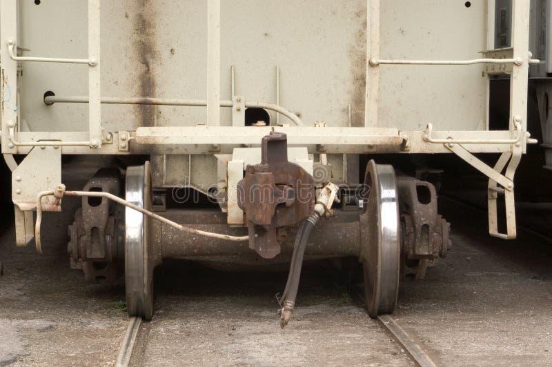 Detalhe do carro de estrada de ferro fotos de stock