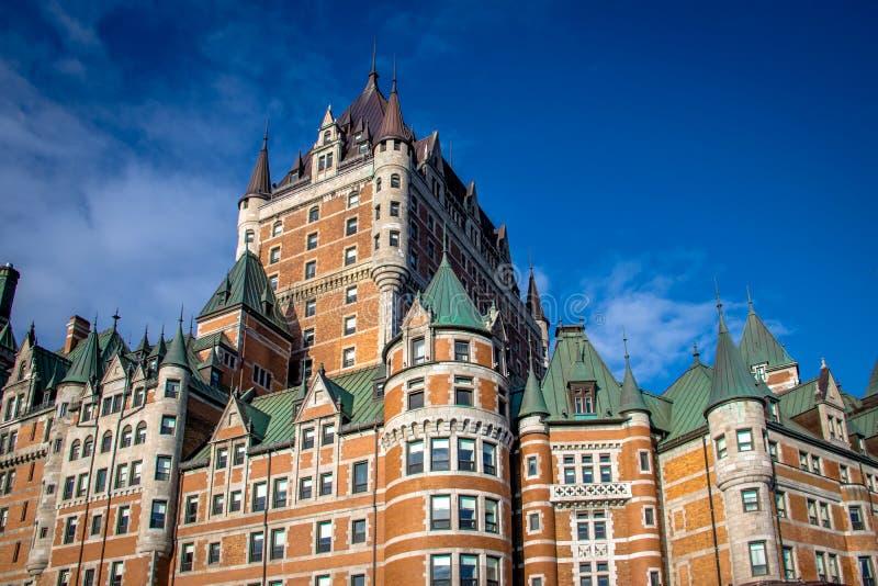 Detalhe do castelo de Frontenac - Cidade de Quebec, Quebeque, Canadá imagem de stock
