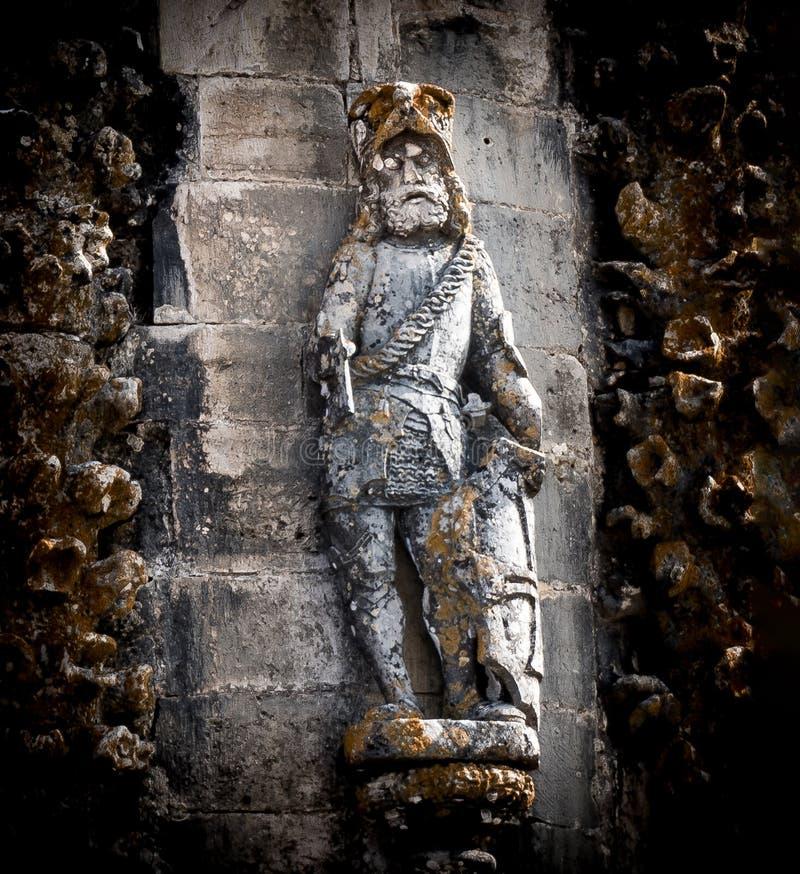 Detalhe do cavaleiro de Templar do convento de Cristo imagem de stock