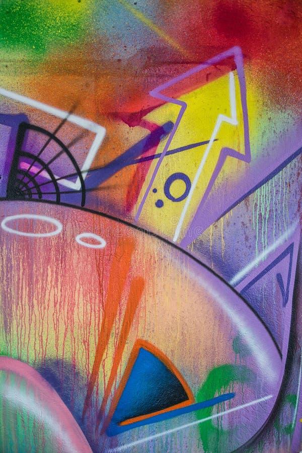Detalhe do close-up de pintura dos grafittis imagens de stock royalty free