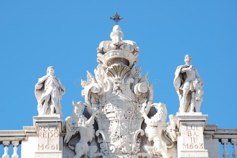 Detalhe do ?EL Palacio real? em Madrid fotografia de stock