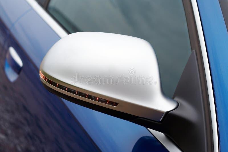 Detalhe do espelho Rear-view foto de stock