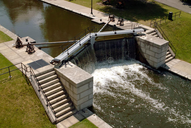 Detalhe do fechamento do canal de Rideau foto de stock royalty free