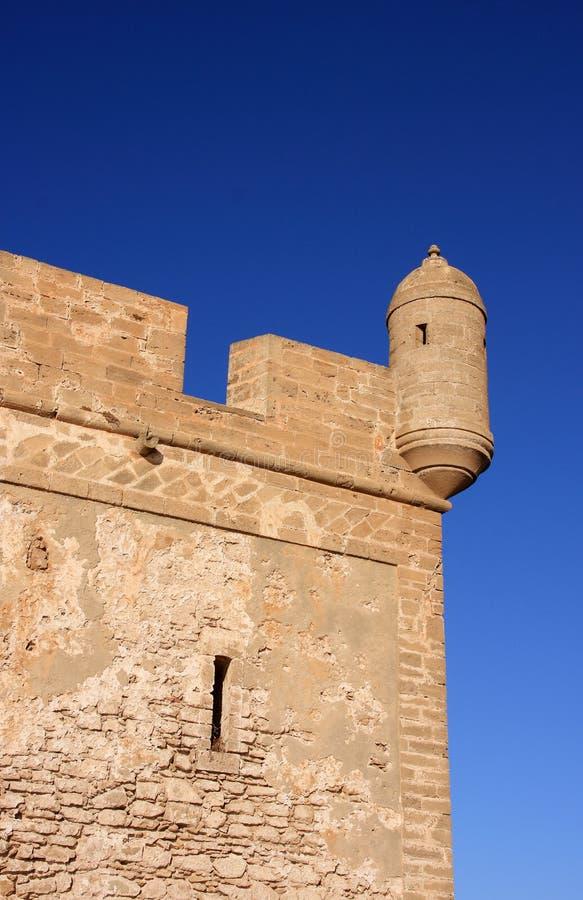 Detalhe do forte de Marrocos Essaouira imagem de stock