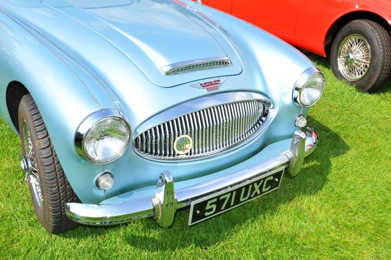 Detalhe do frontal do carro do vintage imagem de stock royalty free
