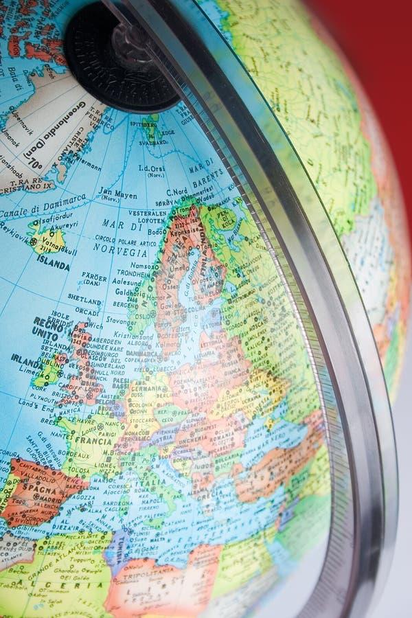 Detalhe do globo imagens de stock royalty free