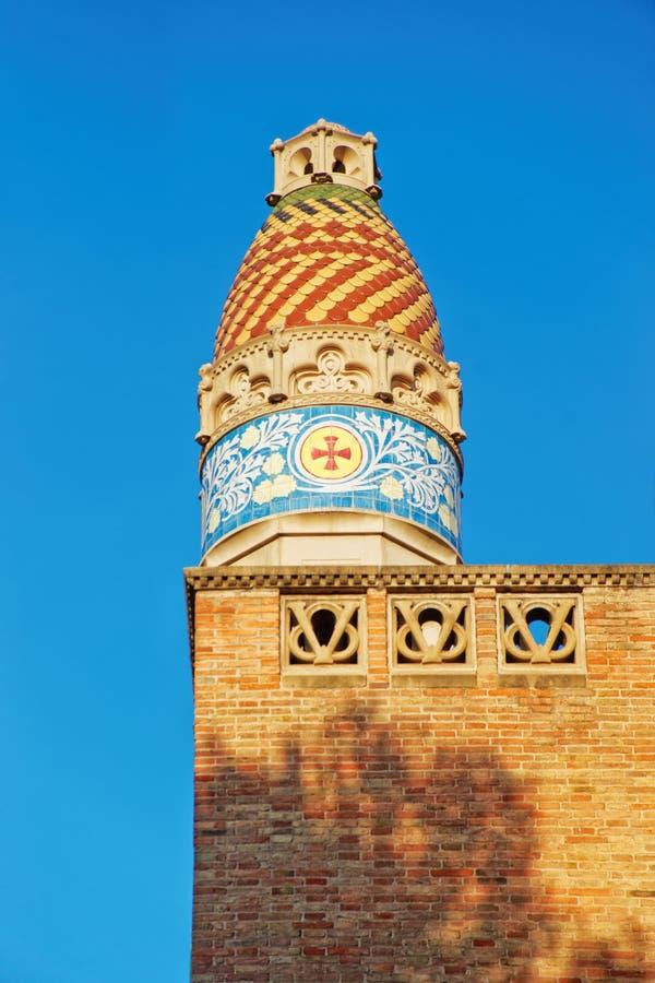 Detalhe do hospital de Sant Pau em Barcelona fotos de stock royalty free
