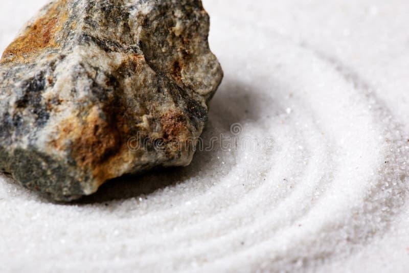 Detalhe do jardim de rocha do zen fotografia de stock