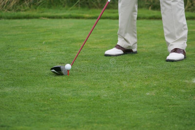 Detalhe do jogador de golfe fotos de stock royalty free