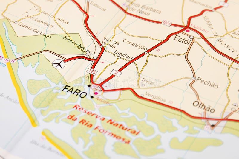 Detalhe Do Mapa De Estradas Foto De Stock Imagem De Portuguese