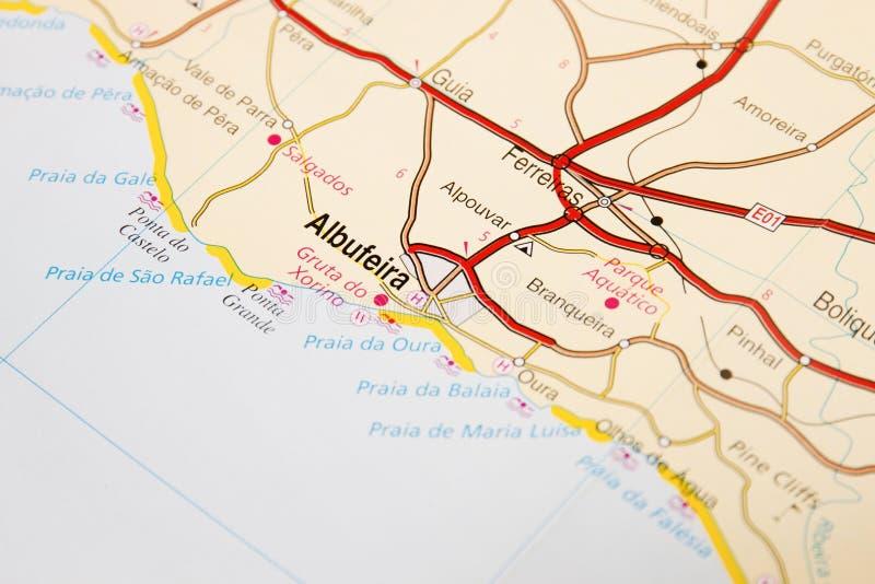 Detalhe Do Mapa De Estradas Foto De Stock Imagem De Ferias