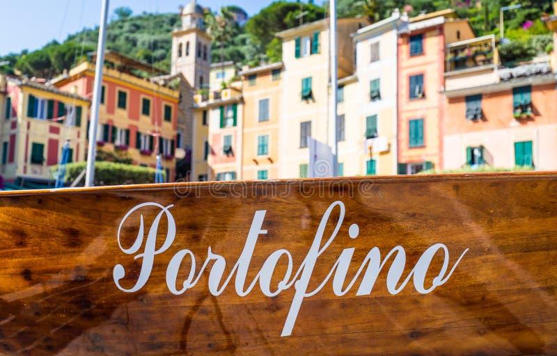 Detalhe do marco de Portofino fotos de stock