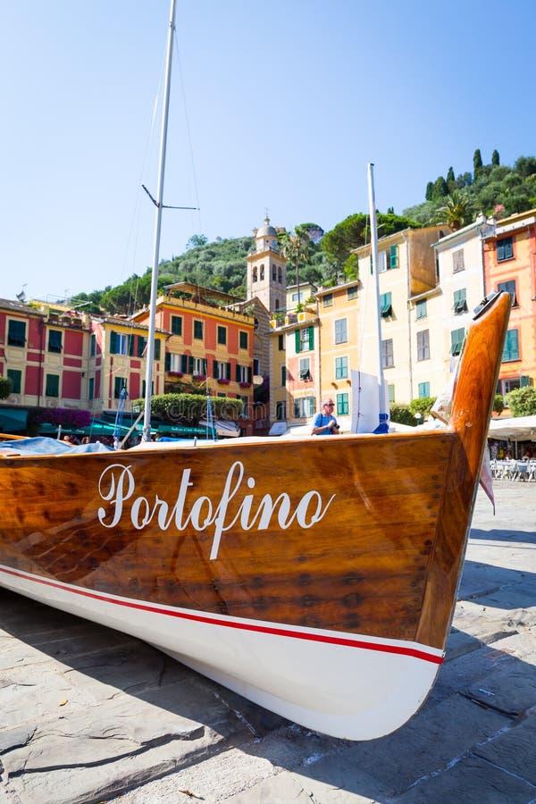 Detalhe do marco de Portofino foto de stock royalty free
