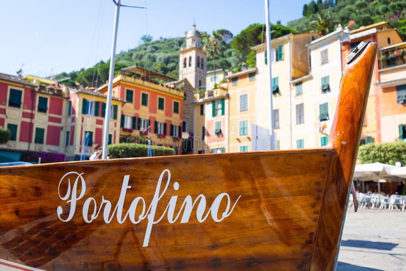 Detalhe do marco de Portofino fotografia de stock