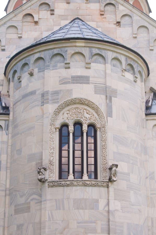 Detalhe do monastério de Studenica fotos de stock royalty free