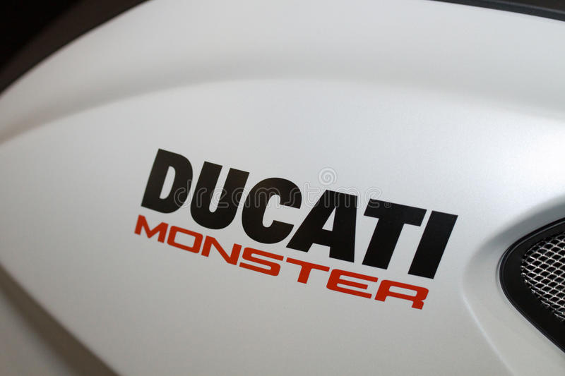 Detalhe do monstro de Ducati fotos de stock
