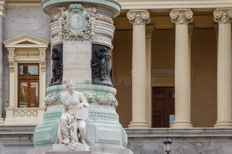 Detalhe do monumento no Madri imagens de stock royalty free