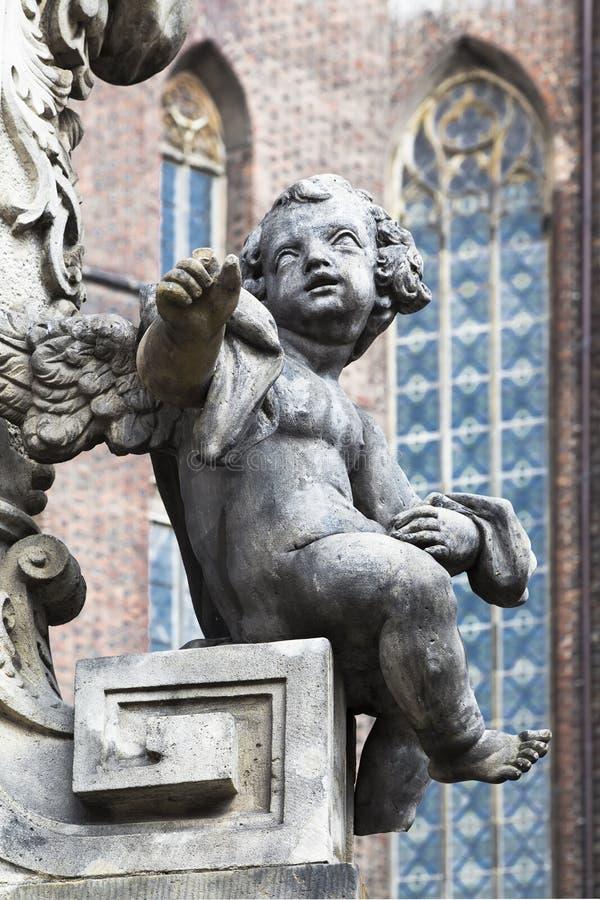 Detalhe do monumento a St. John Nepomuk fotografia de stock